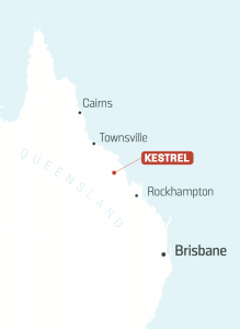 Anglo Pacific Value Analysis Kestrel location map