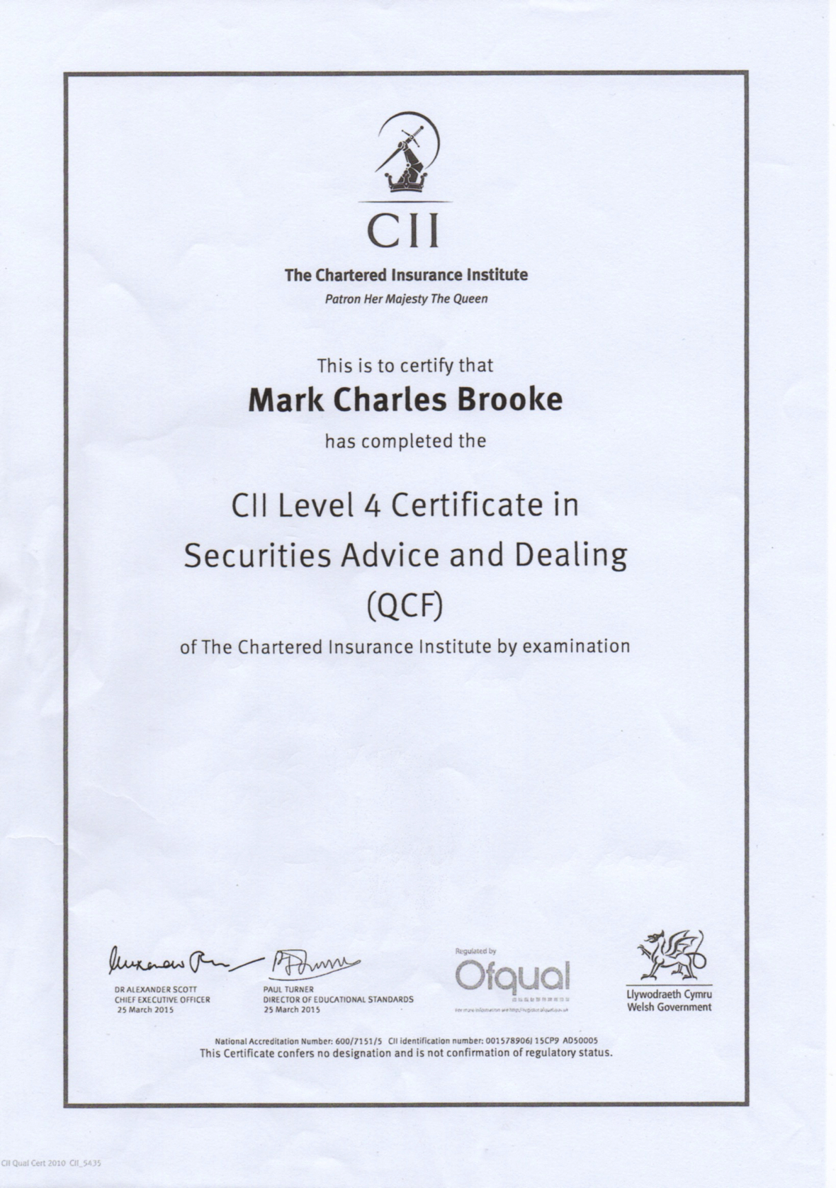 CII-Securites-Advice-and-Dealing-Level-4-QCF-for-Mark-Brooke-2016-09-09